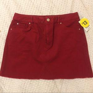 {Forever 21} Red jean skirt